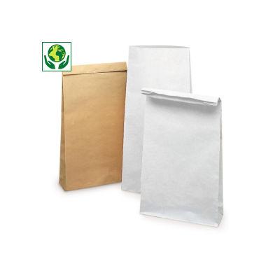 Stabile Papierbeutel ohne Haftklebeverschluss