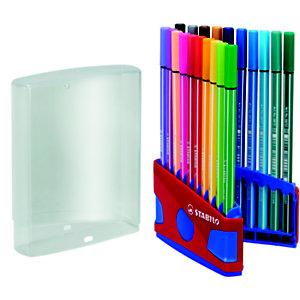 STABILO 68, Rotulador de punta de fibra, punta mediana, cuerpo de polipropileno en colores variados, tinta de colores variados