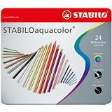 STABILO Aquacolor Aquarelle Lápices de colores, cuerpo hexagonal, colores de minas variados