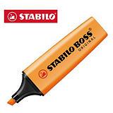 STABILO BOSS® ORIGINAL, Evidenziatore, Punta a scalpello, 2 mm - 5 mm, Arancione (confezione 10 pezzi)