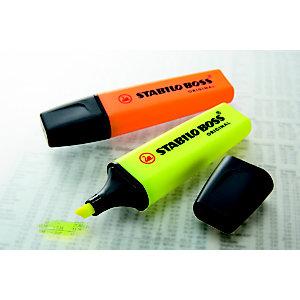 STABILO BOSS® ORIGINAL, Evidenziatore, Punta a scalpello, 2 mm - 5 mm, Assortiti (confezione 4 pezzi)