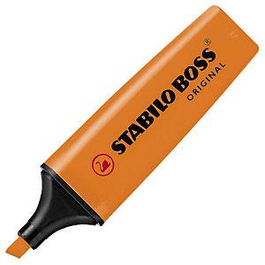 STABILO Boss Original Marcador fluorescente, punta biselada, 2-5 mm, Naranja