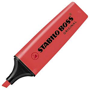 STABILO Boss Original Marcador fluorescente, punta biselada, 2-5 mm, Rojo