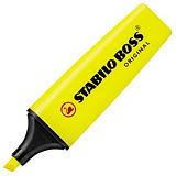 STABILO Boss Original - Surligneur pointe biseautée 2 et 5 mm - Jaune fluo