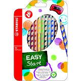 STABILO EasyColors Lápices de colores, cuerpo triangular con grip, colores de minas variados