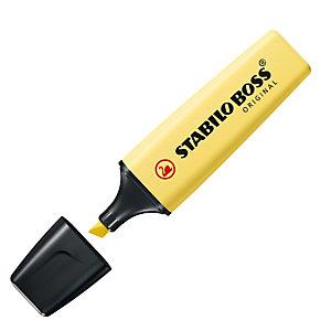 STABILO Evidenziatore Boss Original Pastel - punta a scalpello - tratto 2 - 5 mm - giallo banana 144 - Stabilo