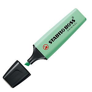 STABILO Evidenziatore Boss Original Pastel - punta a scalpello - tratto 2 - 5 mm - verde menta 116 - Stabilo