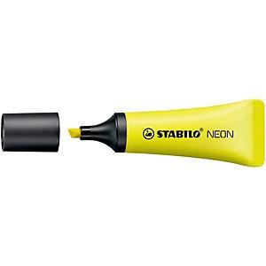 STABILO NEON, Evidenziatore, Punta a scalpello, 2 mm - 5 mm, Giallo (confezione 10 pezzi)