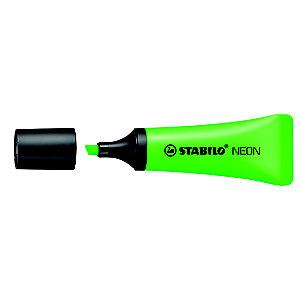 STABILO Neon Marcador fluorescente, punta biselada, 2 mm-5 mm, Verde