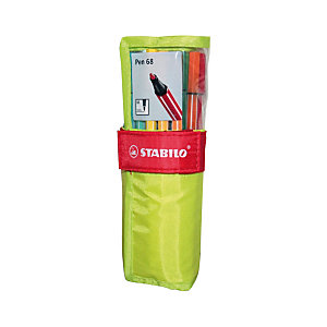 STABILO Pen 68 Penna con punta in fibra, Punta media, Fusto in colori assortiti, Inchiostro in colori assortiti (confezione da 25 pezzi)