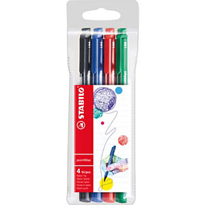 STABILO Penna fineliner punta in nylon pointMax, Punta media,  Colori inchiostro assortiti