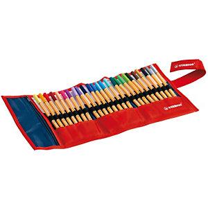 STABILO point 88® Penna fineliner, Punta fine, Fusto arancione, Inchiostro in colori assortiti (confezione da 25 pezzi)