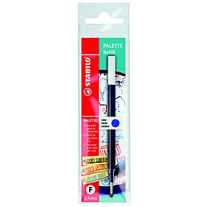 STABILO Refill per penna roller Palette, Punta fine, Inchiostro blu (confezione 10 pezzi)
