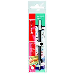 STABILO Refill per penna roller Palette, Punta fine, Inchiostro nero (confezione 10 pezzi)
