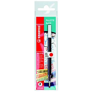 STABILO Refill per penna roller Palette, Punta fine, Inchiostro rosso (confezione 10 pezzi)