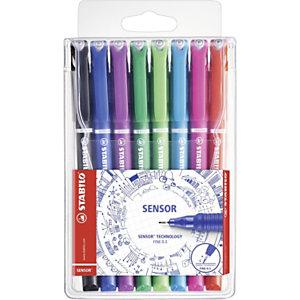 STABILO sensor®, Bolígrafo fineliner, punta superfina de 0,3mm, cuerpo de colores variados
