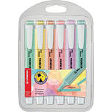 STABILO Surligneur swing® cool couleurs pastel assorties pointe biseautée 1 + 4 mm