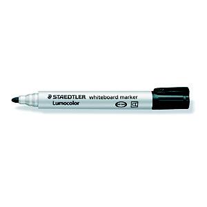 STAEDTLER Lumocolor Lumocolor® Marcatore per lavagna, Punta tonda 2 mm, Nero (confezione 10 pezzi)