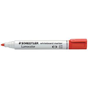 STAEDTLER Lumocolor Lumocolor® Marcatore per lavagna, Punta tonda 2 mm, Rosso (confezione 10 pezzi)