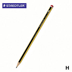 Staedtler Noris 120 Matita in grafite, Mina H, Fusto esagonale giallo e nero (confezione 12 pezzi)