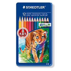 Staedtler Noris Club144, crayons de couleur, corps hexagonal, mines aux couleurs assorties