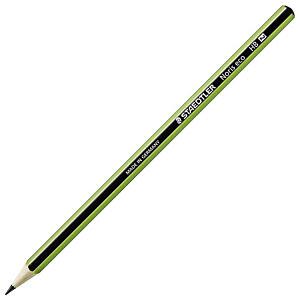STAEDTLER Noris Eco, crayon graphite, mine HB, corps hexagonal vert et noir (Lot de 12)