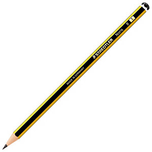 Staedtler Noris Matita in grafite, Mina B, Fusto esagonale giallo e nero
