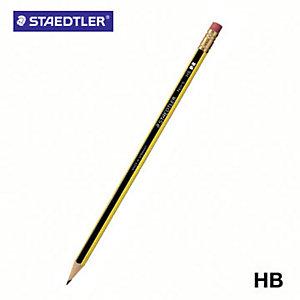 Staedtler Noris Matita in grafite, Mina HB, Fusto esagonale giallo e nero (confezione 12 pezzi)