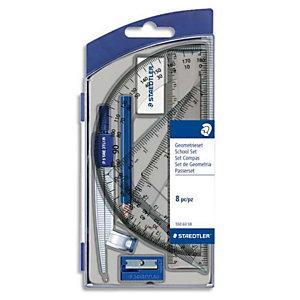 STAEDTLER SAEDTLER Set scolaire 1 compas de précision avec attache-compas universelle intégrée + accessoires