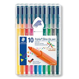 STAEDTLER Triplus® vezelpuntpen fijne punt 1 mm lijndikte diverse kleuren verpakking van 10