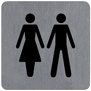 Standaard alu plaatje Toilet D/H