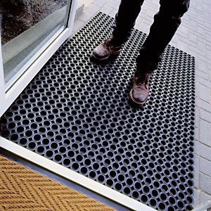 Standaard rubberen roostermat dikte 23 mm, 0,60 x 0,80 m
