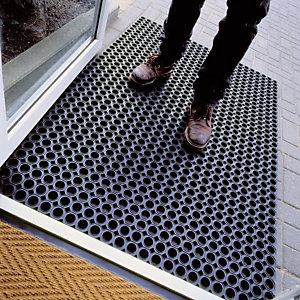 Standaard rubberen roostermat dikte 23 mm, 0,75 x 1,00 m