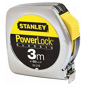 STANLEY Flessometro PowerLock - 3 mt - larghezza nastro 12,7 mm - Stanley