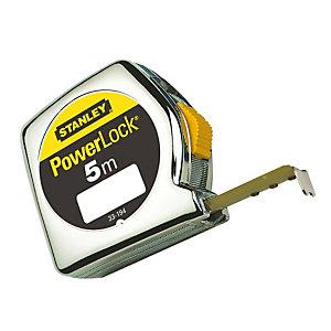 STANLEY Flessometro PowerLock - 5 mt - larghezza nastro 19 mm - Stanley