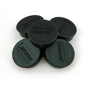Staples Aimants ronds 25 mm noirs, poids supporté 425 g