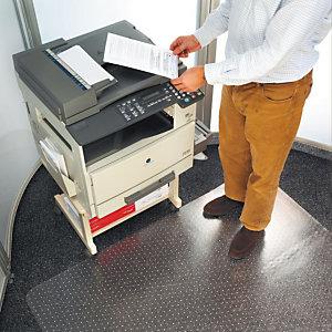 Staples Alfombra protectora PVC / moqueta / lengüeta / 90 x 120 cm