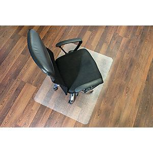 Staples Alfombrilla protectora para sillas, rectangular, 1200 mm x 900 mm, suelos duros, policarbonato 100% reciclable, transparente
