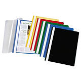 Staples Archivador de informes, capacidad para 30 hojas, polipropileno, A4, rojo