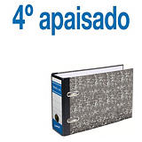Staples AZ Neoclas Archivador de palanca, 4º apaisado, Lomo 70 mm, Capacidad 500 hojas, Cartón resistente recubierto de papel impreso, Negro jaspeado