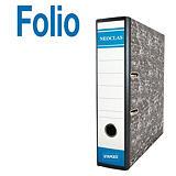 Staples AZ Neoclas Archivador de palanca, Folio, Lomo 70 mm, Capacidad 500 hojas, Cartón resistente recubierto de papel impreso, Negro jaspeado