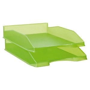 Staples Bandeja translúcida verde