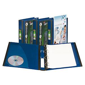 Staples BETTER™ Carpeta personalizable de anillas tipo D, A4, ancho del lomo de 40 mm, capacidad para 275 hojas, polipropileno, azul