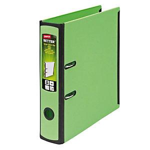 Staples Better Registratore archivio, Dorso 7,5 cm, Capacità 560 fogli, Polipropilene, Verde