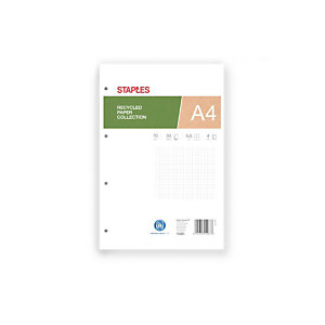Staples Bloc con tapa de papel reciclado (A4)