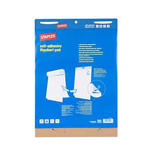 Staples Bloc de papel adhesivo para caballete