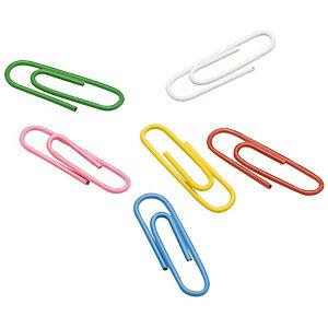 Staples Boîte de 100 trombones  25 mm - Coloris assortis