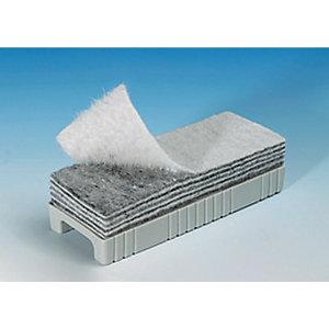 Staples Borrador de capas desechables de pizarra blanca, plástico, blanco