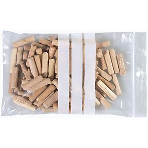 Staples Buste richiudibili in polietilene su cui scrivere Trasparenti 120 x 180 mm Confezione da 100
