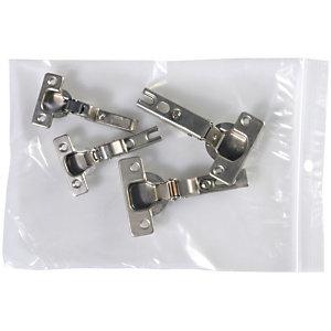 Staples Buste richiudibili in polietilene Trasparenti 180 x 250 mm Confezione da 100